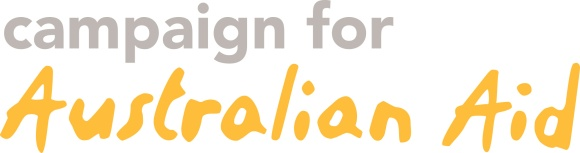 campaign for australian aid logo